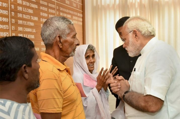PM visits Ockhi-hit areas in Kerala, TN, Lakshadweep