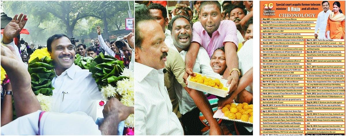 DMK elated as Raja, Kanimozhi acquitted