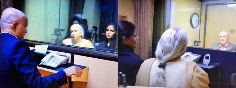 Jadhav meets wife, mother through glass panel