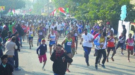 Over 5,000 sprinters take part in 5 km Marathon