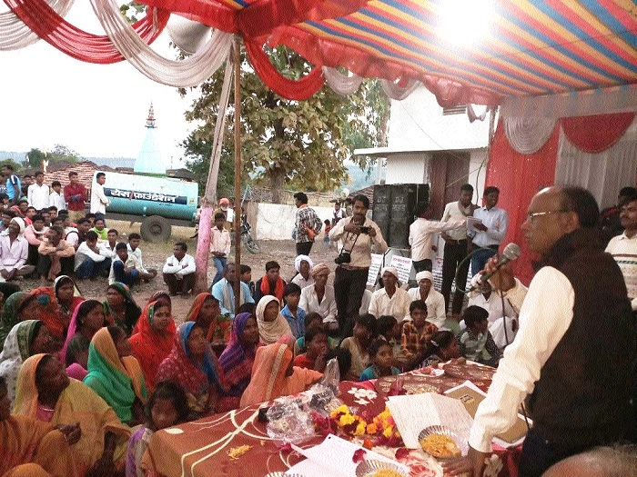 MLA Kamlesh Shah visits villages in Harrai development block