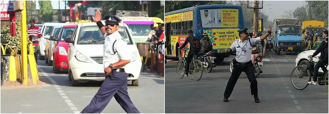 Cop moonwalks to regulate traffic in MP