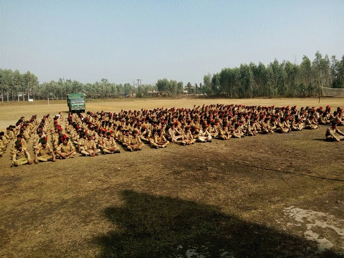 Arms training camp held for NCC cadets of CATC-16