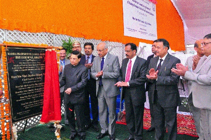 CJI lays foundation stone for MP State Judicial Academy building