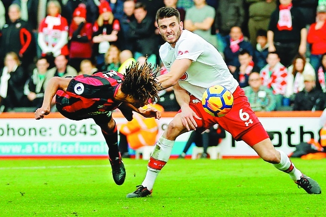 Austin on target for Southampton in derby draw with Bournemouth