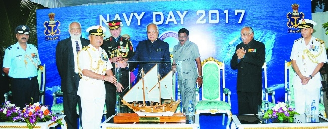 T N Governor Banwarilal Purohit Navy Day At Home function in Chennai