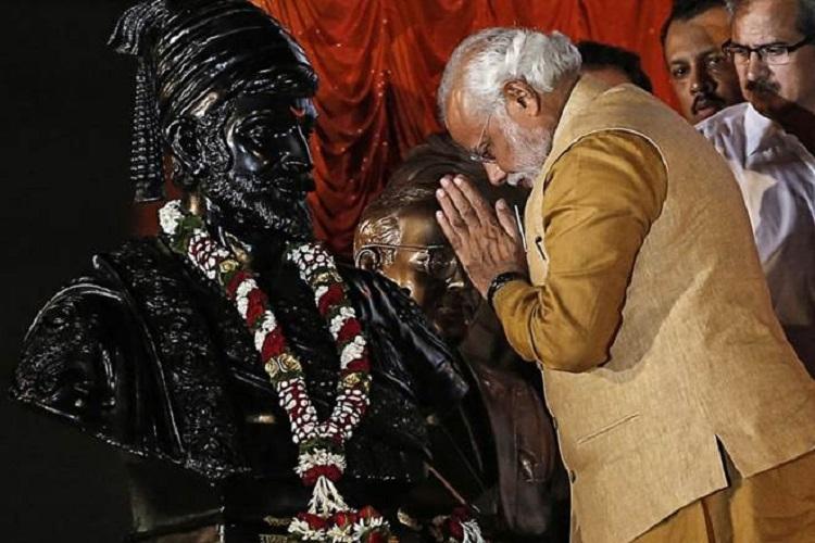 Modi pays tributes to Shivaji Maharaj