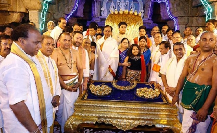 Rao offers Rs 5 cr gold to Lord Venkateswara for realisation of separate Telangana State