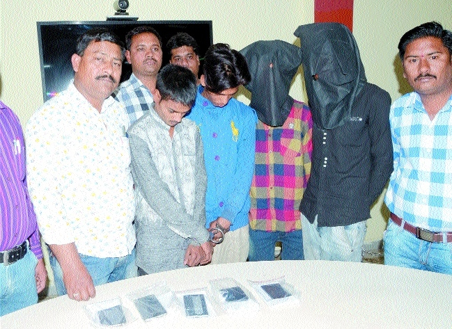 Gang busted, bikes, handsets worth Rs 4 lakh recovered