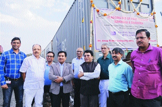 M&M exports 42 tractors to Nigeria from ICD, Nagpur
