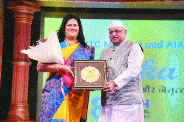 Grace Pinto honoured with 'Nayika Sanmaan'