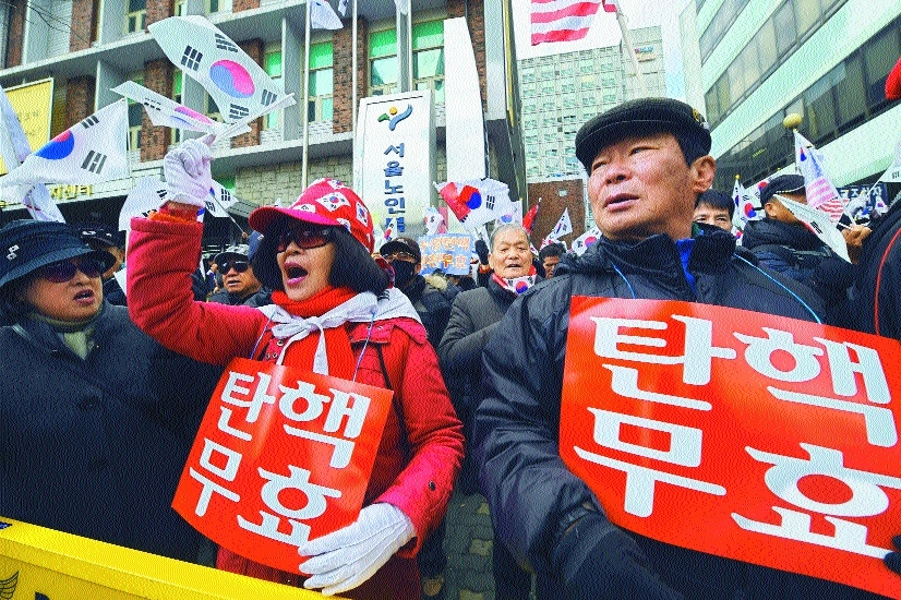 political fate of South Koreas scandal hit President Park