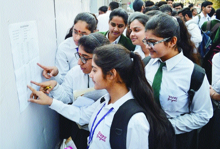 Students search for their roll numbers 10th CBSE