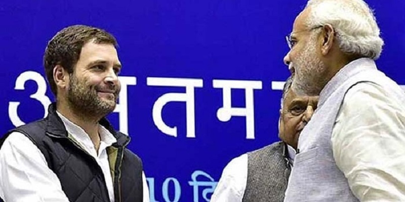 Rahul congratulates Modi, BJP for victory