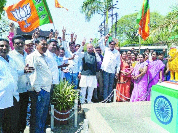 BJP celebrates thumping win in UP, Uttarakhand polls