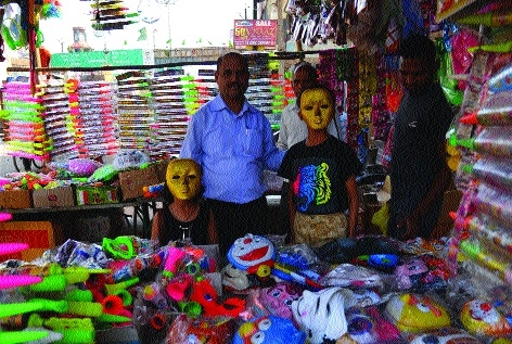 City market flooded with holi materials