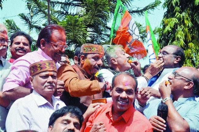 BJP celebrates thumping victory in Uttar Pradesh, Uttarakhand
