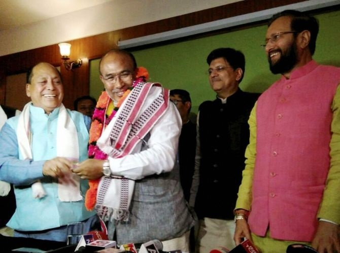 BJP's Biren Singh to take oath as Manipur CM today