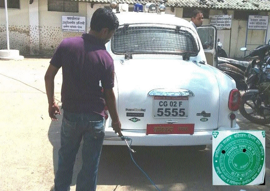 Collector gets his vehicle checked at PUC centre, obtains certificate