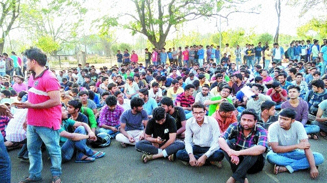 MANIT students stage protest against lack of facilities