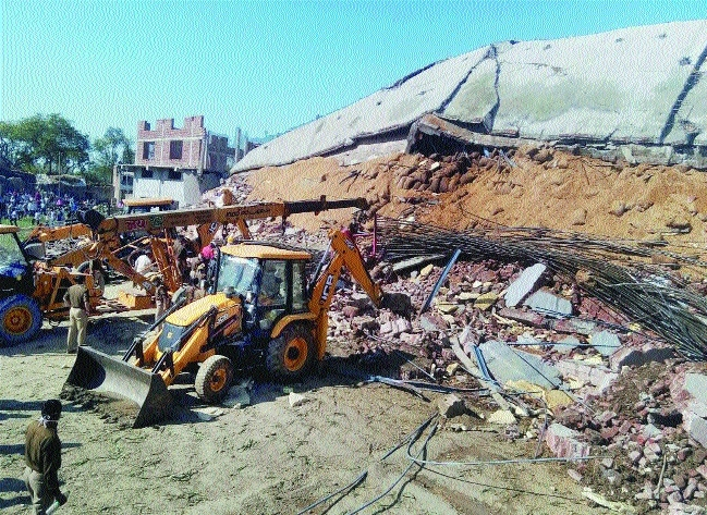 cold storage building collapsed Shivrajpur in Kanpur district on