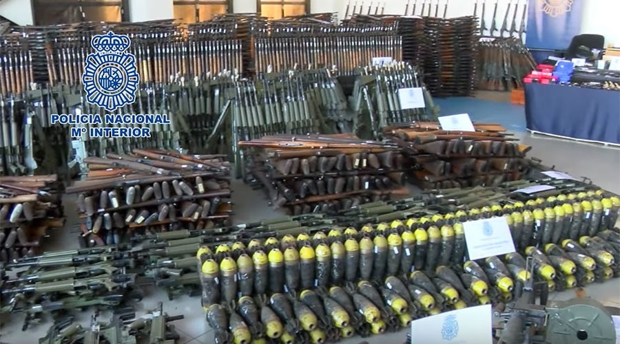 10000 weapons seized by Spanish police