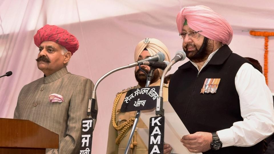 Amarinder takes oath as Punjab CM