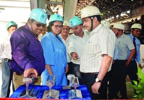 Saraswati Prasad, Soma Mondal visit SAIL's Bhilai Steel Plant