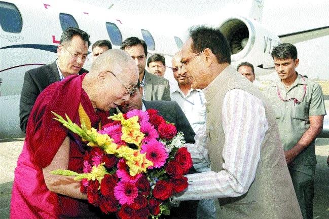 Dalai Lama arrives in bhopal