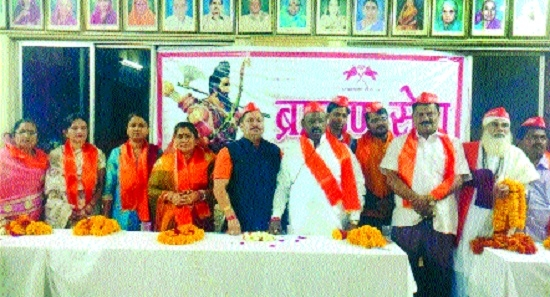 Brahman Sena Foundation fetes newly elected corporators