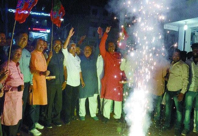 BJP celebrates victory as 'Vijay Utsav' across State