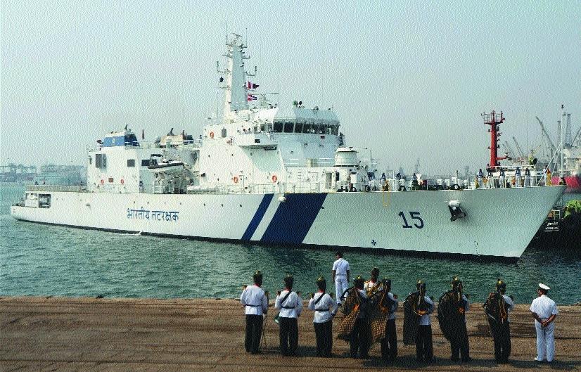 ICGS  Shaunak  arrives at port in Chennai