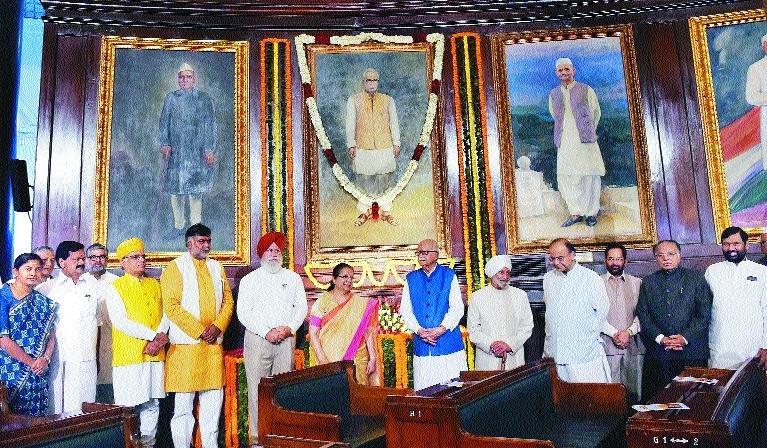 SumitraMahajanArunJaitleyAdvani parliment