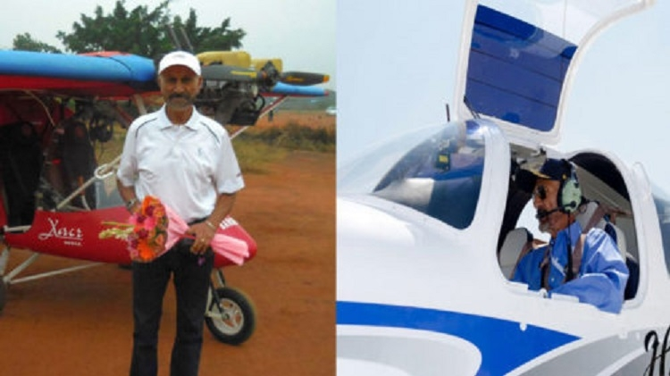 Age no bar for this sprightly 81-yr-old pilot