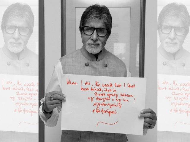 Amitabh shared When I die my assets will be equally shared