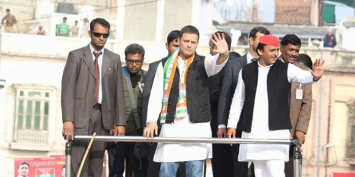 SP, BJP workers clash at Akhilesh-Rahul's roadshow in Varanasi