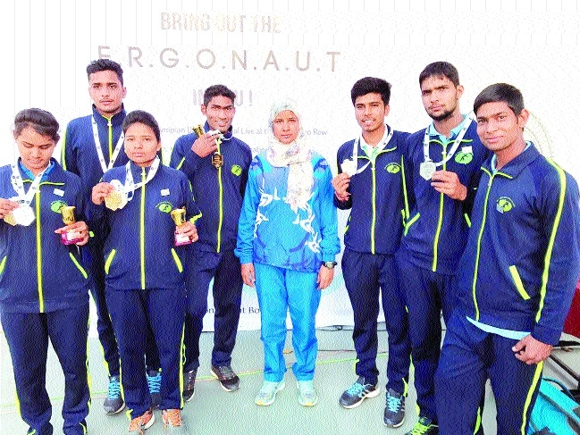 MP players bag 5 medals in Rowing Ergometer C'ship