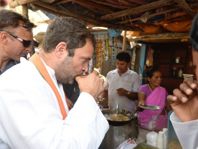 Rahul Gandhi stops over for tea in rural UP