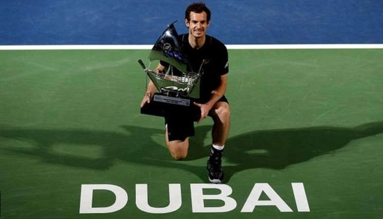 Murray clinches first title of year in Dubai