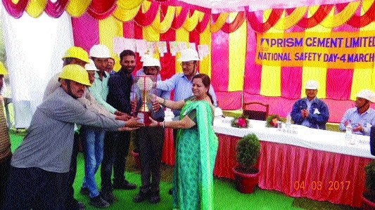 Safety Day observed at Prism Cement