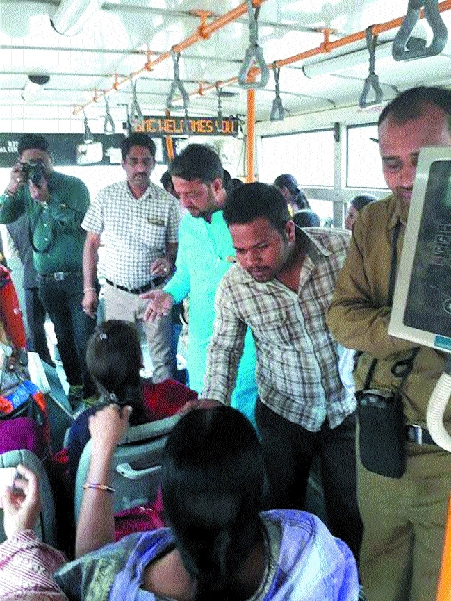 BCLL Director Mishra inspects BRTS buses