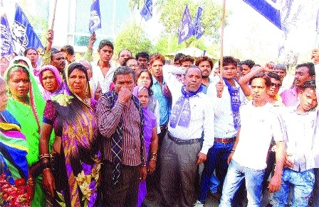 BSP activists demand basic amenities for needy