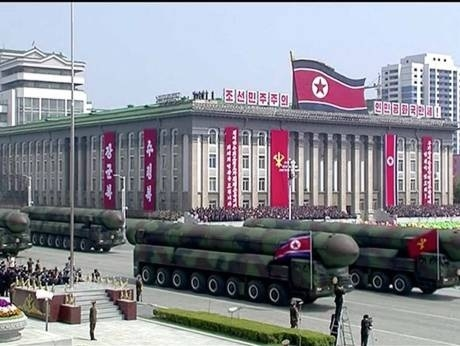 North Korea displays new missile