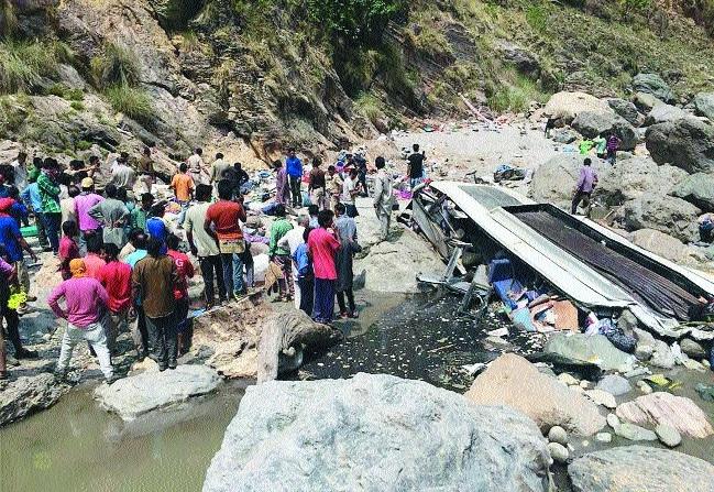 45 killed as bus falls into river in Himachal Pradesh