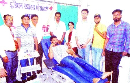 Indian Red Cross Society holds blood donation camp