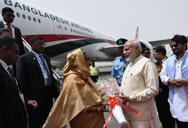 Hasina arrives on 4-day visit, PM receives her at airport