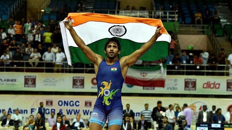 Bajrang gives first gold medal for India