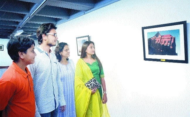 Cinemagraphs exhibition display at Bharat Bhawan