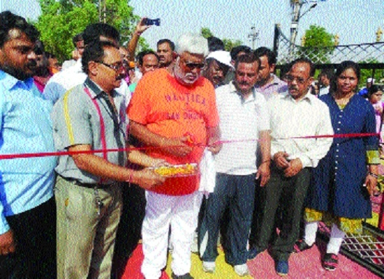 Minister Pandey dedicates newly-constructed garden