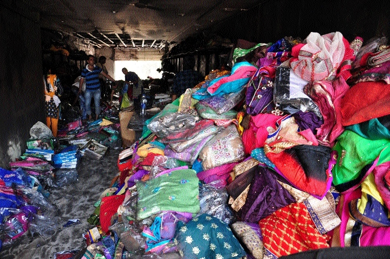 Sarees worth Rs 2 cr gutted in fire